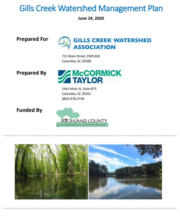 Gills Creek Watershed Management Plan 2020 Update Completed