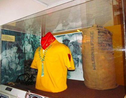 Navajo Code Talker Association shirt in NCM exhibit