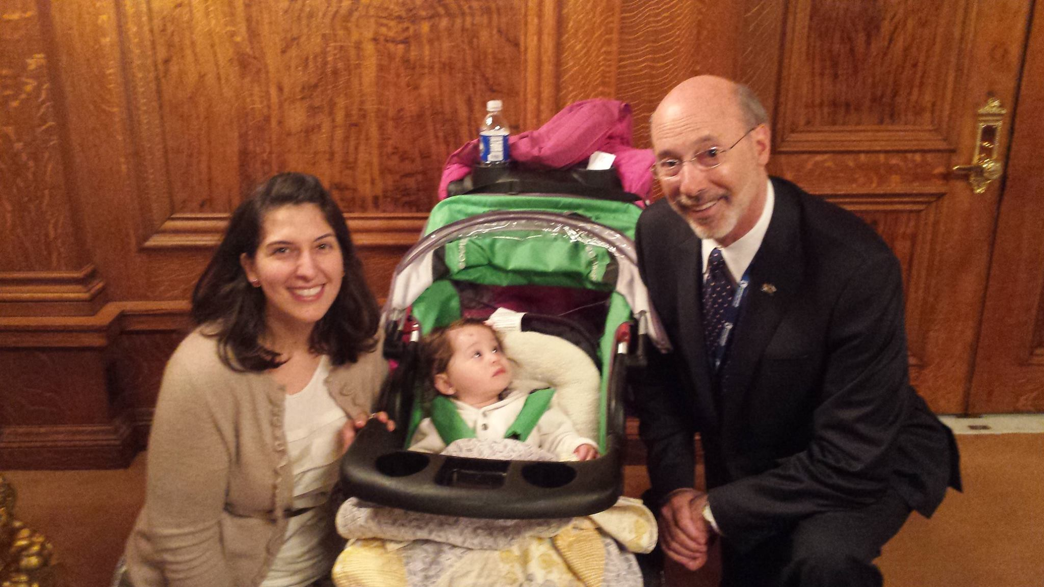 Ashlinn and Nora with Governor Wolf