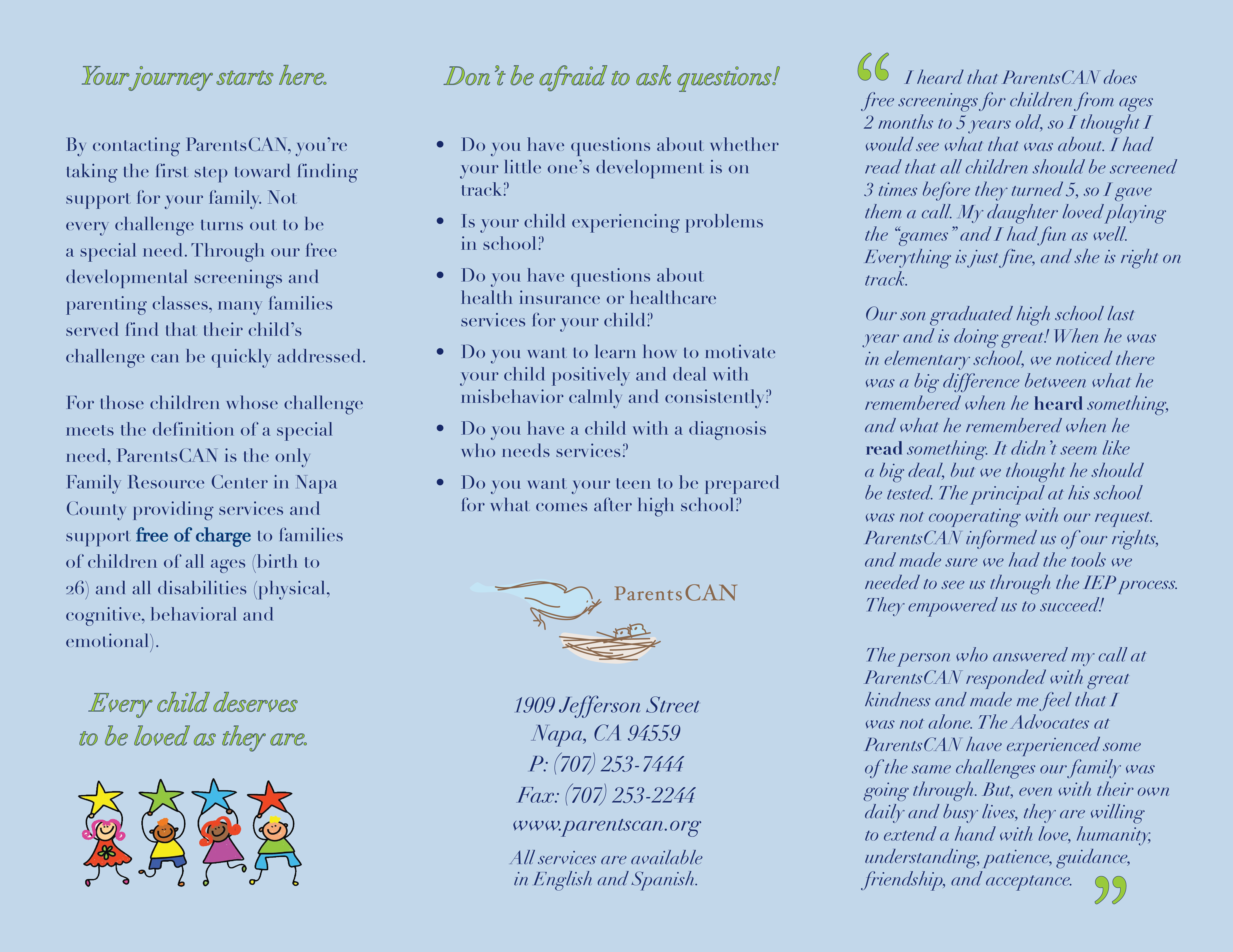 ParentsCAN : How We Help : Our Programs : For Parents