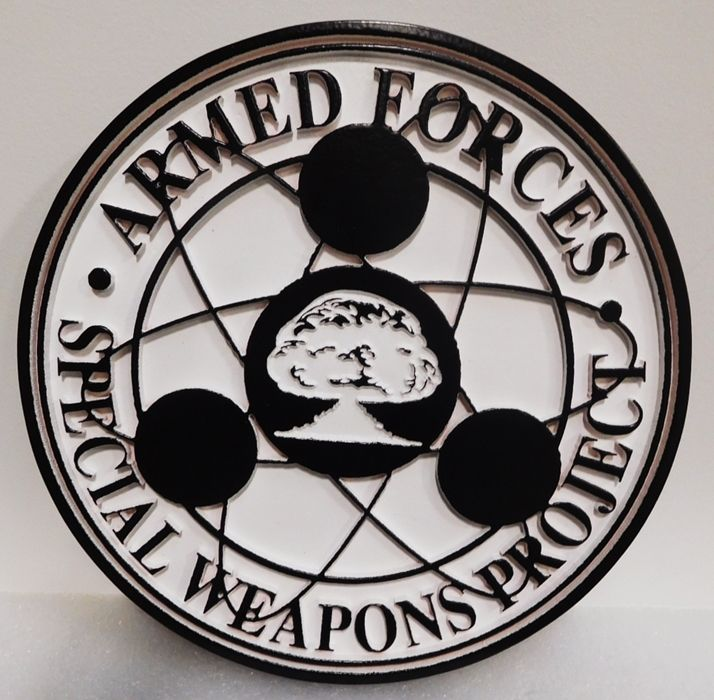 IP-1726 - Carved Plaque of the Emblem for Armed Forces Special Weapons Project, 2.5-D Artist-Painted