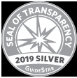 Silver seal of transparency.