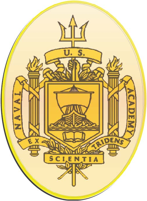 V31388 - US Naval Academy Carved Wall Plaque