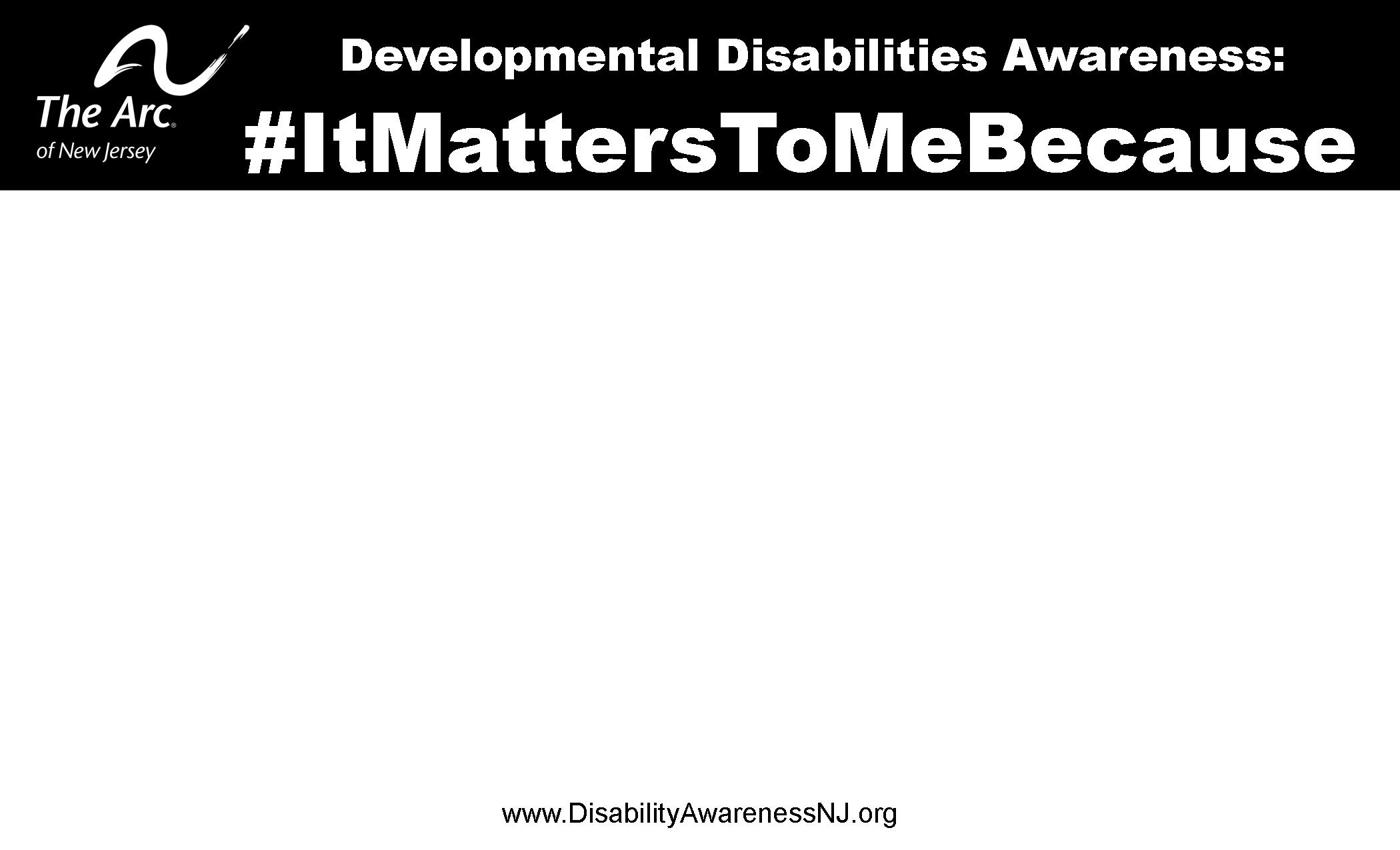 #ItMattersToMeBecause Sign