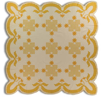 Lincoln Quilt, Made by Grace McCance Snyder, Dated 1939, 90 x 88, IQSC 2009.032.0002