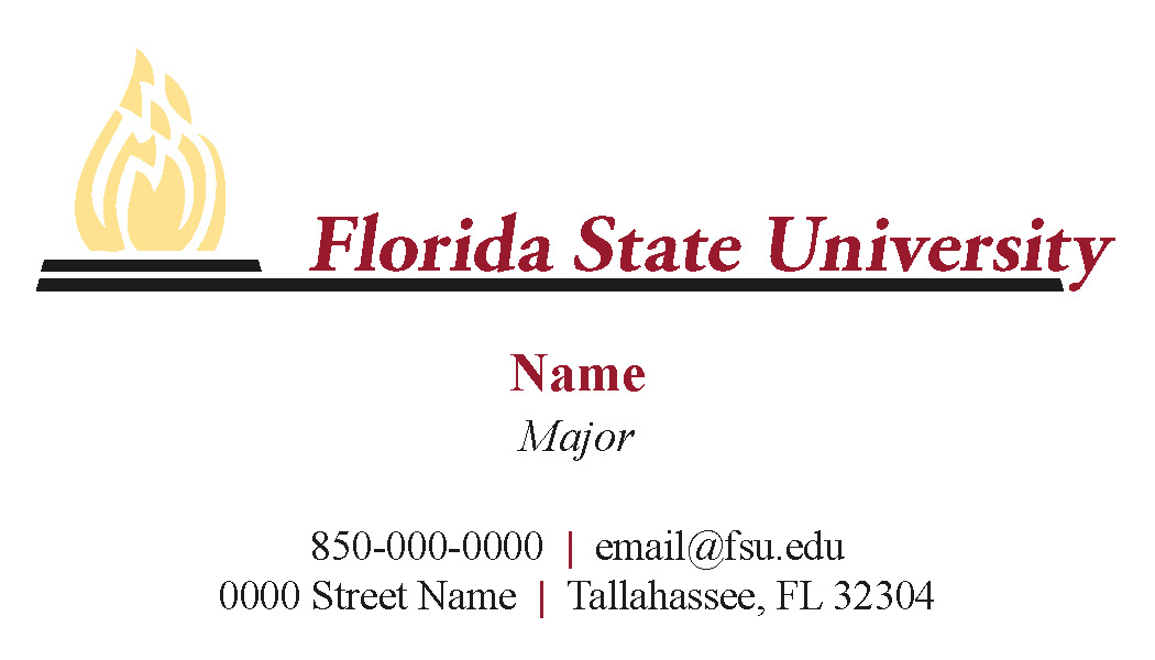 FSU Student Business Cards - Full Color NB