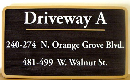 KA20617 - Carved and Sandblasted HDU Driveway and Address Sign