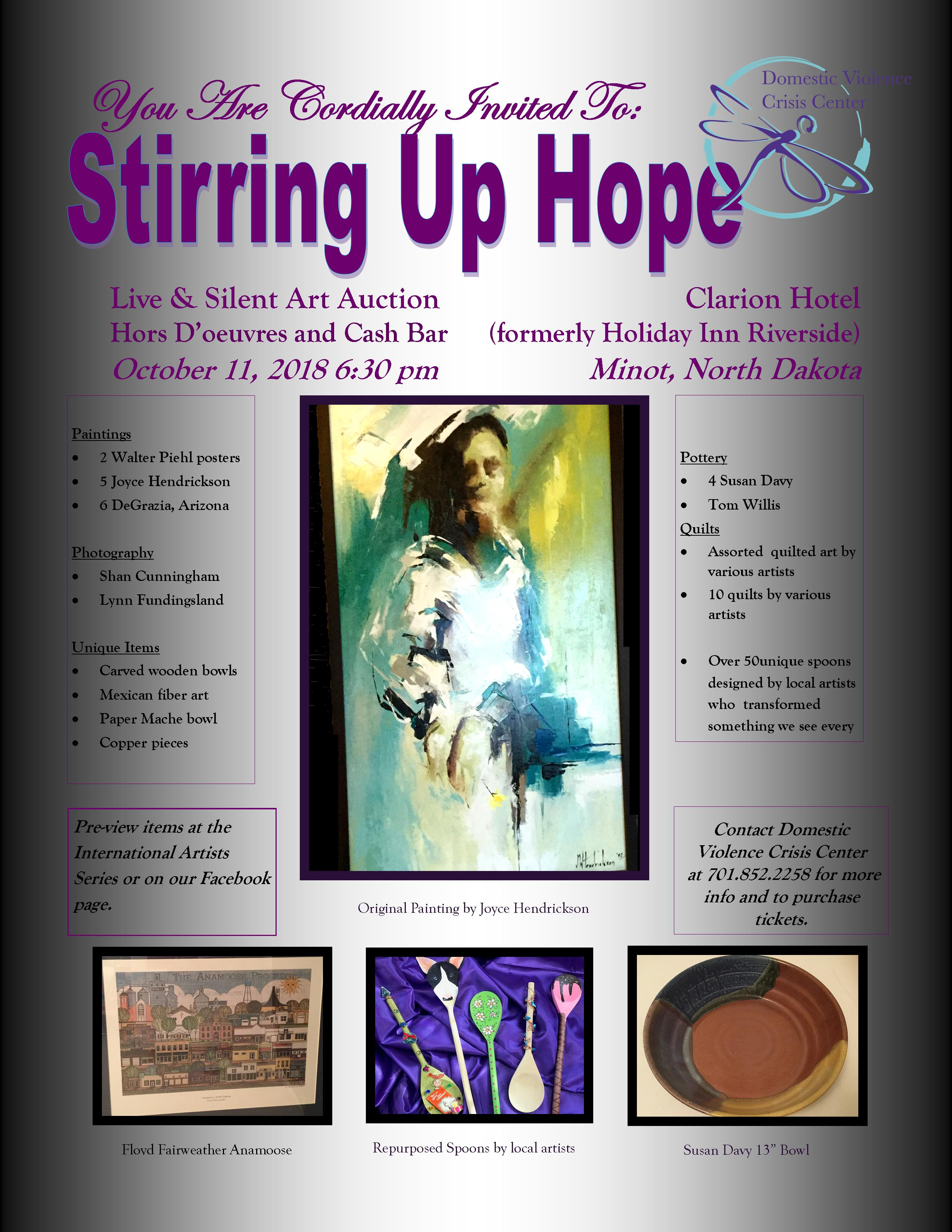 Stirring Up Hope for DVCC an Art Auction