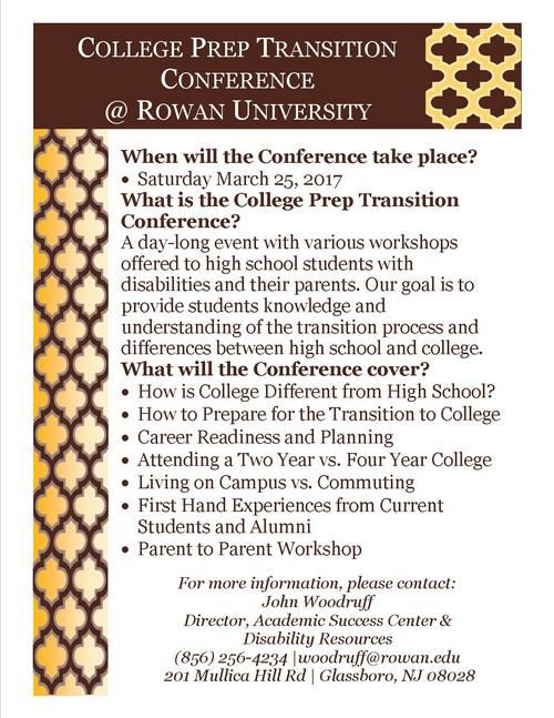 College Prep Transition Conference at Rowan University