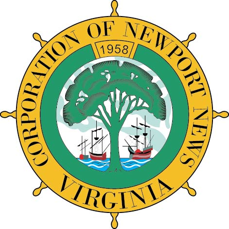 X33107 - Carved Wood Wall Plaque of the Seal of the City of Newport News