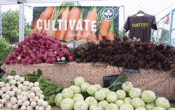 Cultivate Kansas City banner at market