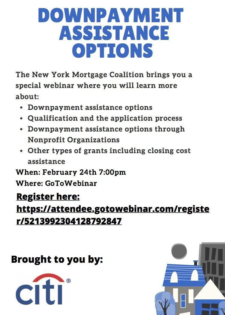 Downpayment Assistance Webinar