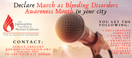 March is Bleeding Disorders Awareness Month