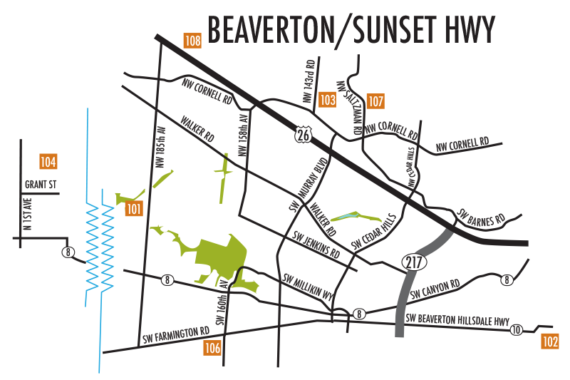 Beaverton/Sunset Highway