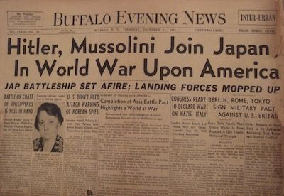 1941: Germany and Italy Declared War on the U.S.