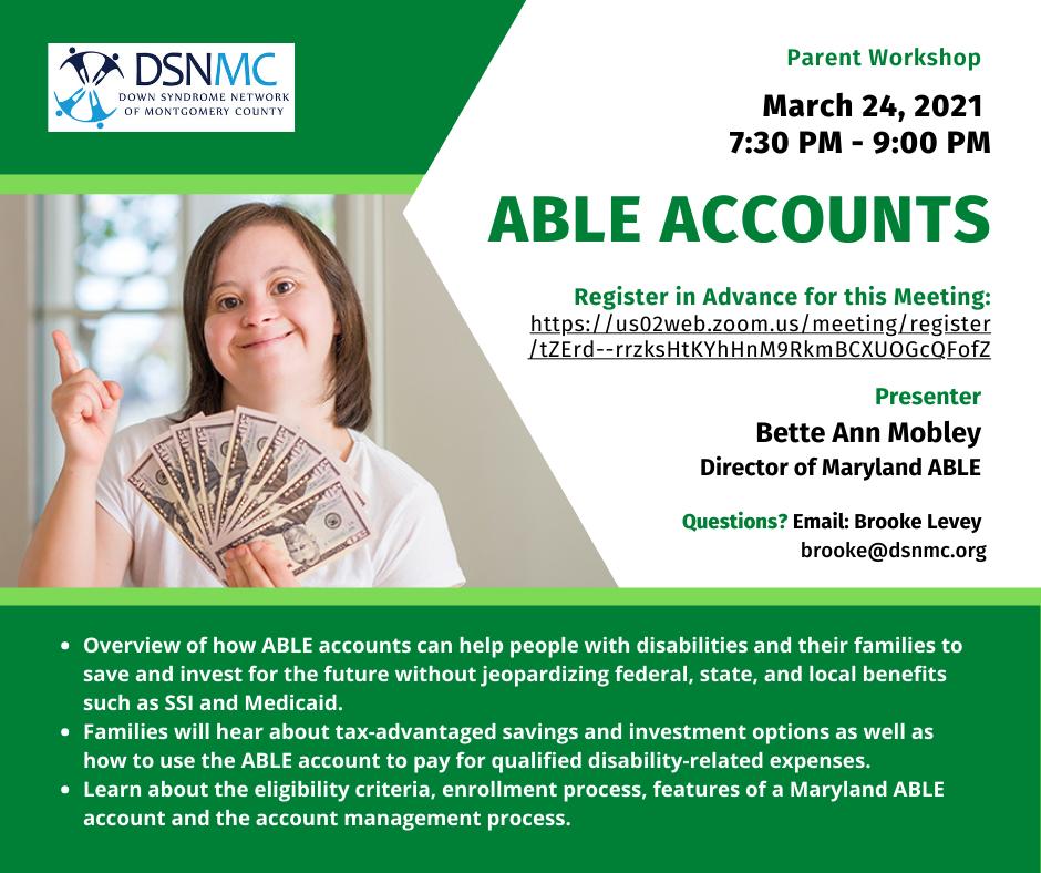 Parent Workshop, Able Accounts