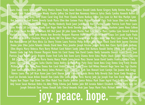 Holiday - JOY.PEACE.HOPE.