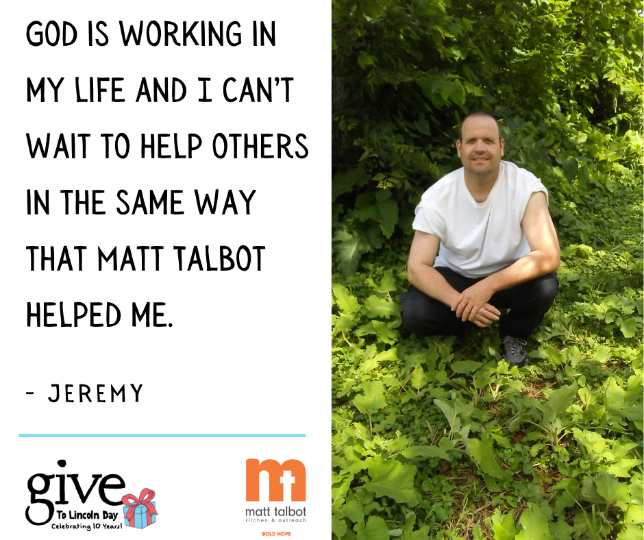 """""""Things have gotten real good for me over the years thanks to my sobriety. God is working in my life and I can't wait to help others in the same way that Matt Talbot helped me."""""""