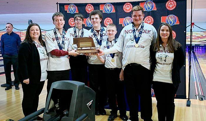 Norfolk High School named Unified Bowling State Champions!
