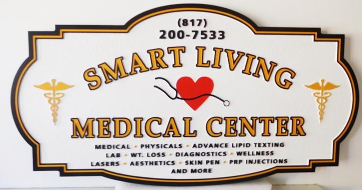 "B11082 - Carved  Sign for the ""Smart Living Medical Center"""