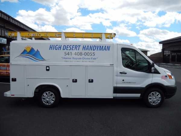 Contractor vehicle graphics in Bend Oregon