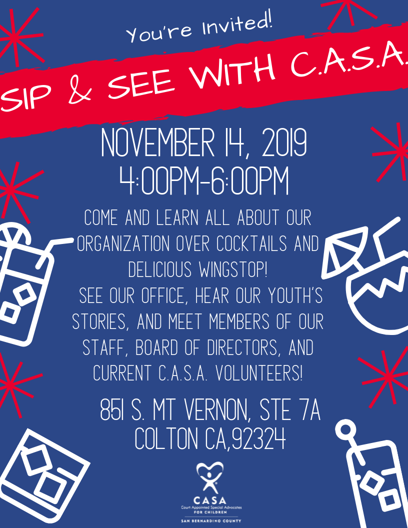 RSVP for C.A.S.A.'s Sip & See