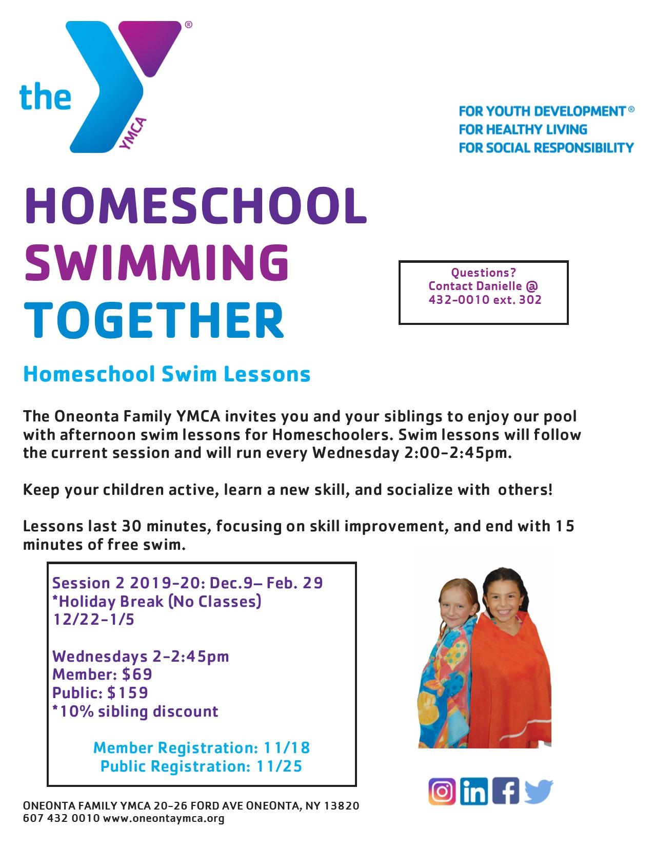 Homeschool Swim Lessons