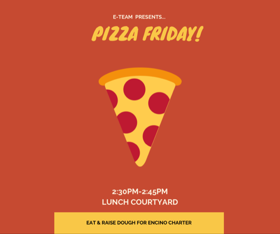 PIZZA FRIDAYS ARE BACK!