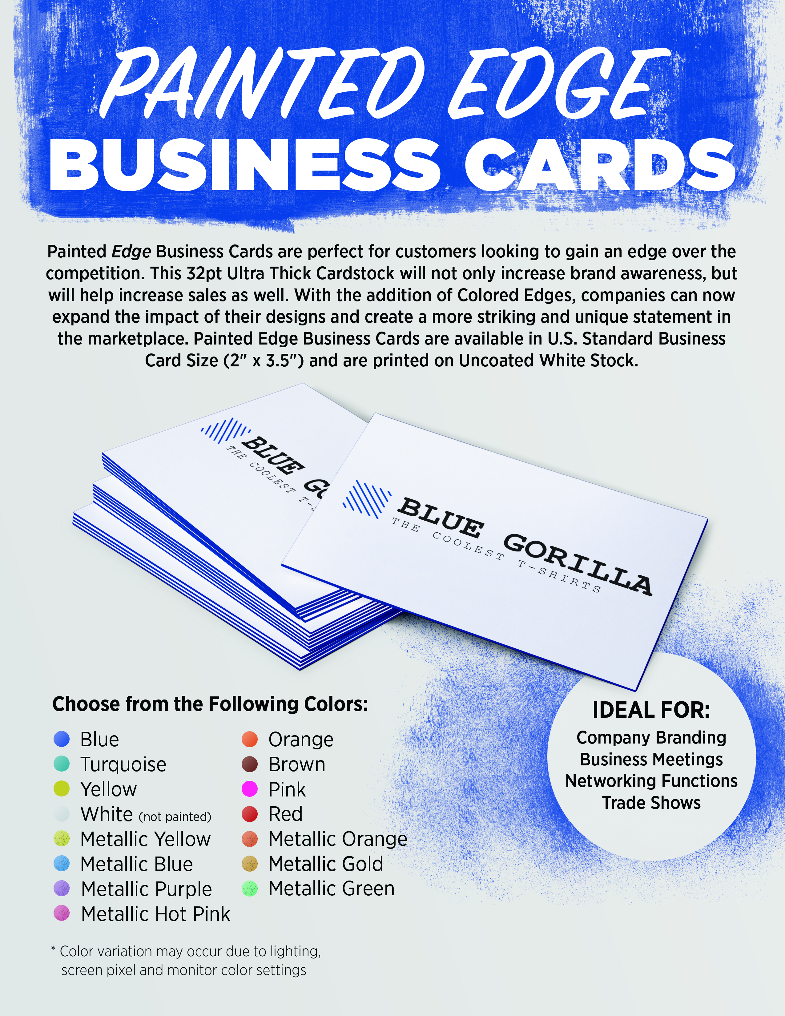 Edge Color Painted Business Cards