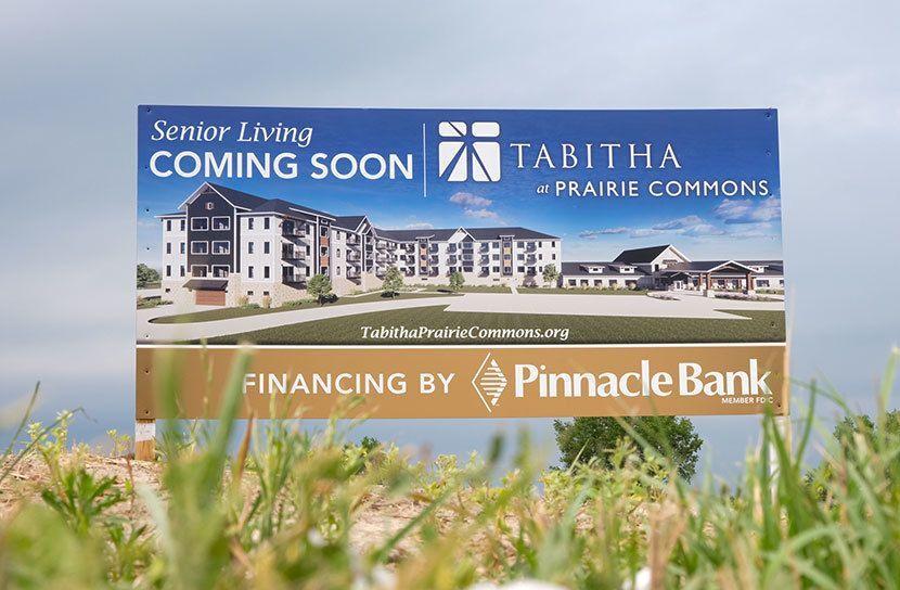 Tabitha Prairie Commons Senior Living Coming Soon Sign