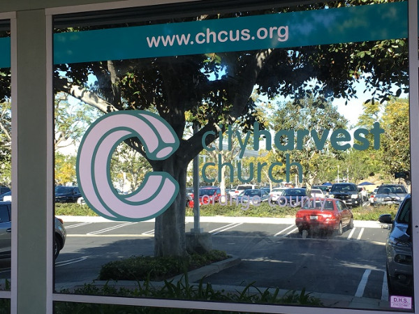 Window graphics for Churches in Orange County CA