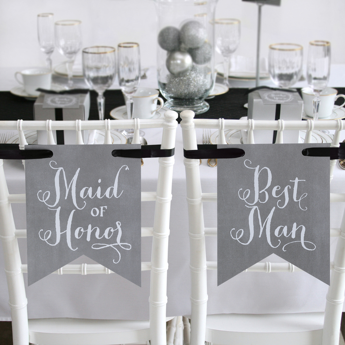 Charming Vintage Signs - Maid of Honor & Best Man