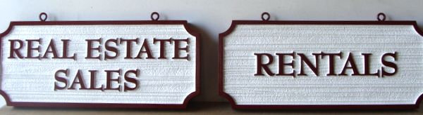 KA20547 - Carved (Choice of HDU or Wood) Signs for Real Estate Sales and Rentals