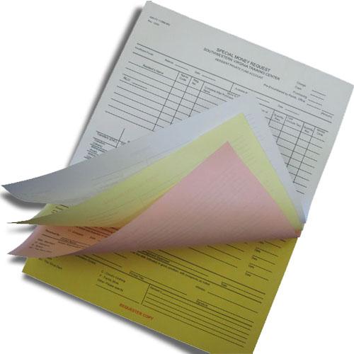 4 Part Carbonless Business Forms - 5.5 x 8.5