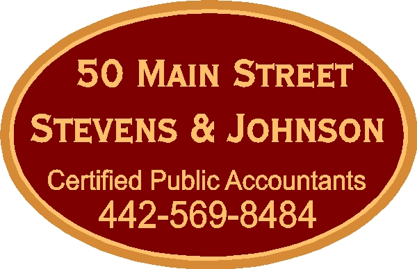C12022 - Carved and Sandblasted High-Density-Urethane (HDU) Sign for CPA Firm