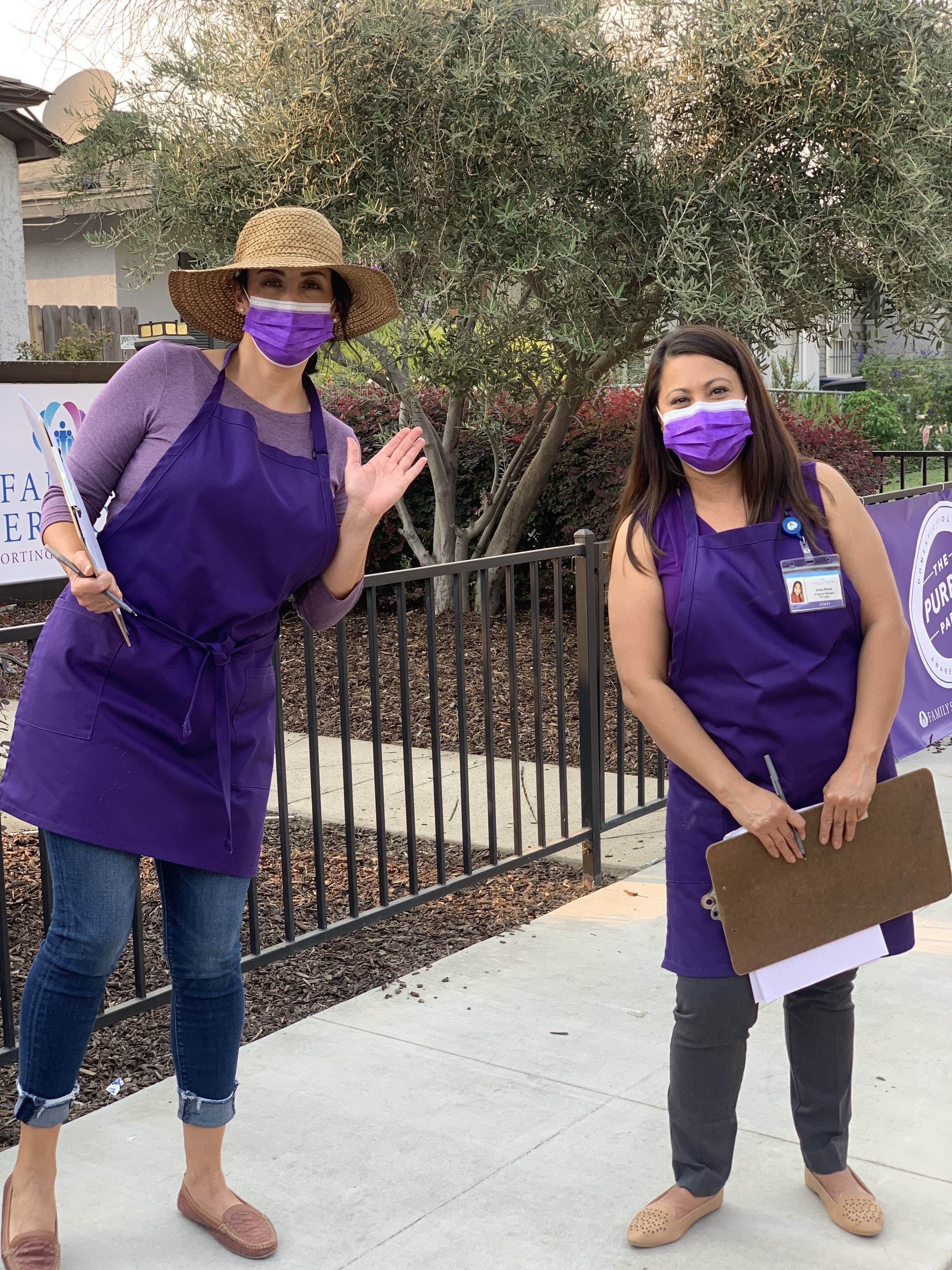 Purple Party partners with Valley Oak SPCA to protect survivors and their pets