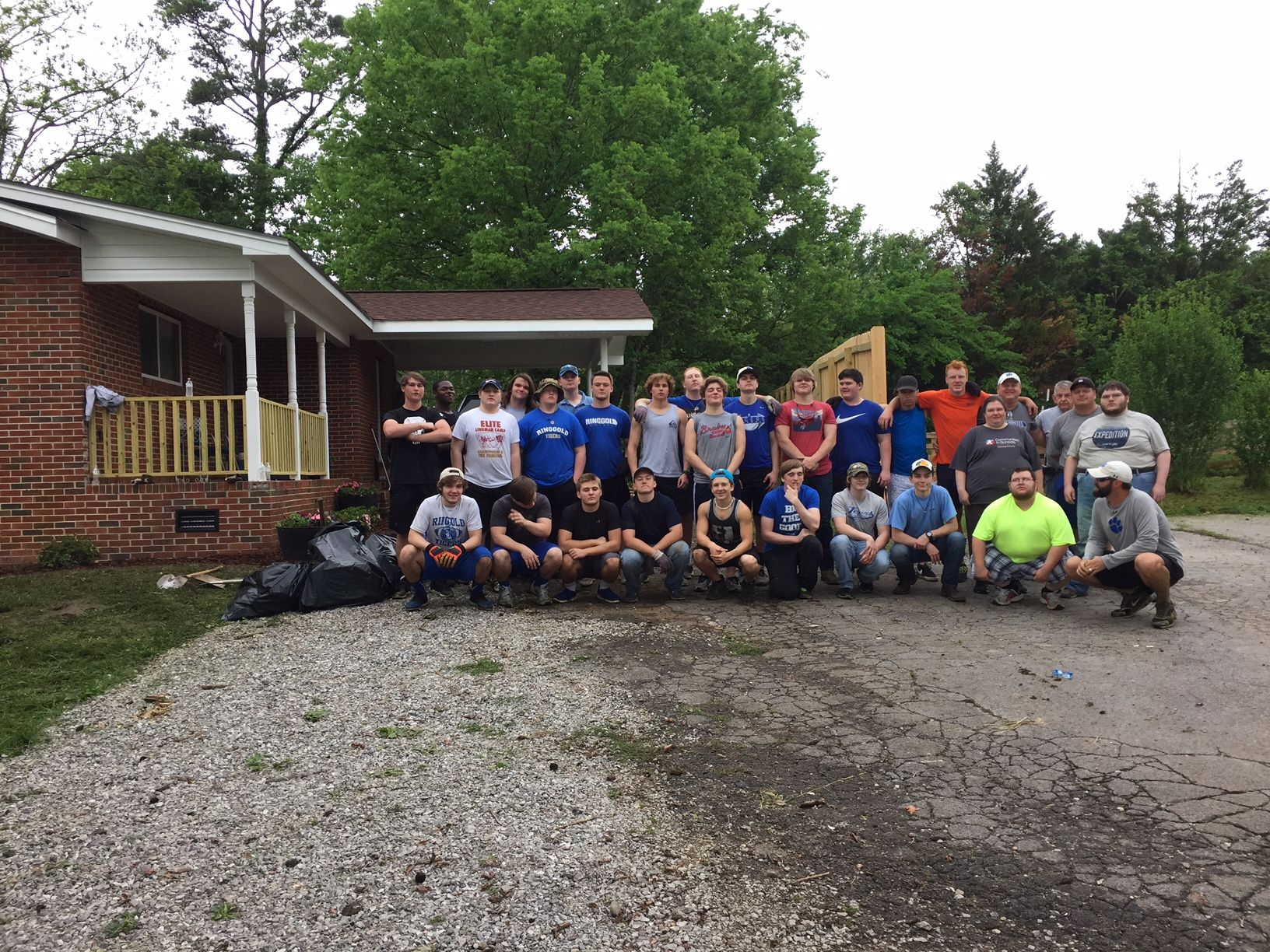 Ringgold High Football Team Volunteer Day