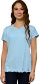 T-shirt V-neck Light Blue