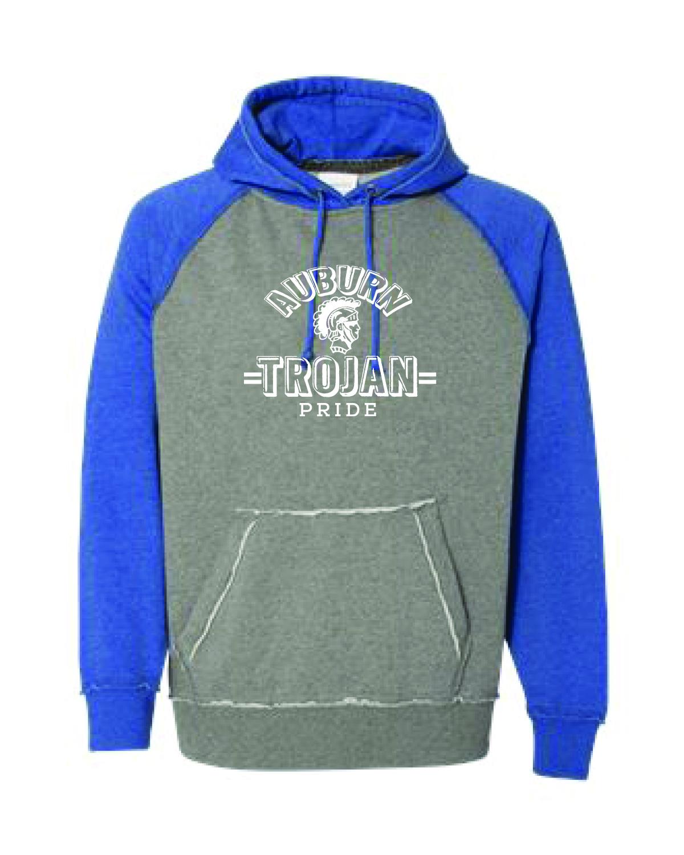 Auburn Trojan Pride Baseball Style Hoodie (MENS)