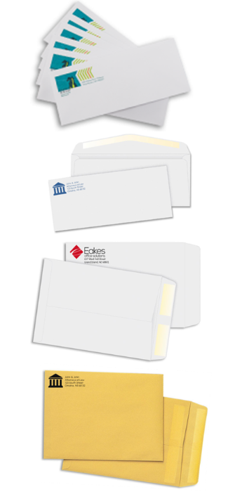 Various Custom Imprinted Envelopes