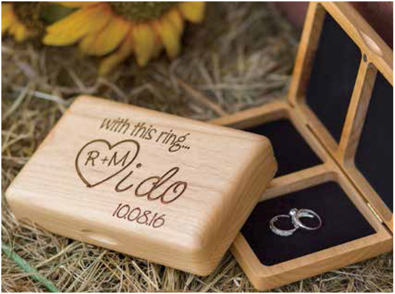 """I do"" Wooden Ring Box"