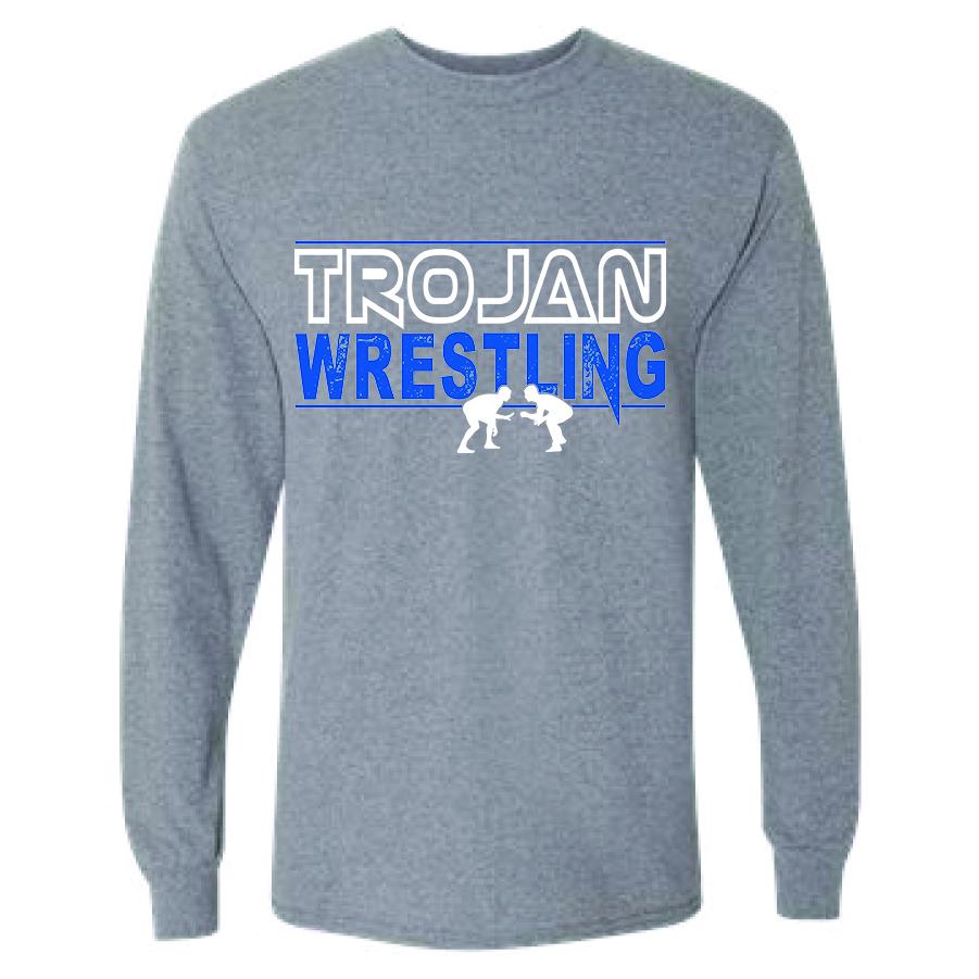 Auburn Wrestlling Long Sleeve (Gray)