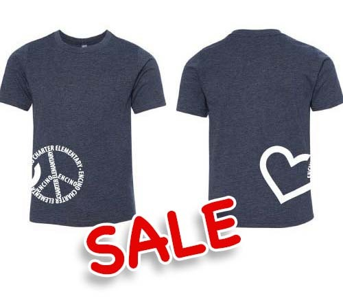 PEACE HEART - Youth Tee (Navy) - S