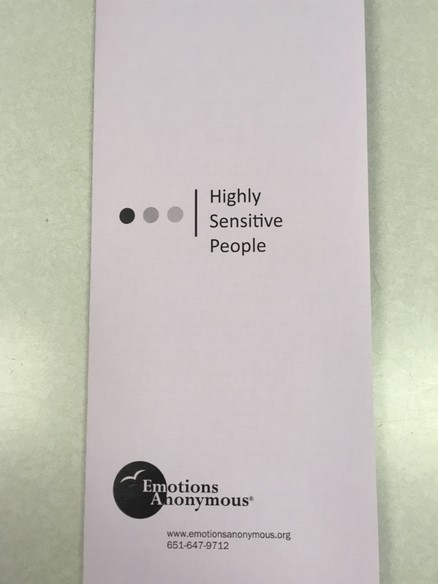 NEW Pamphlet #76 Highly Sensitive People