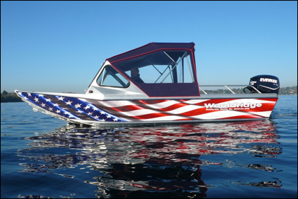 Custom Labels Signage Vinyl Graphics Seattle WA - Boat decal graphics