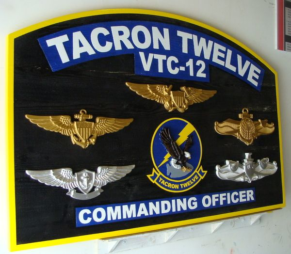 V31256 - Sign to Identify Command Headquarters for Tacron 12 (side view)