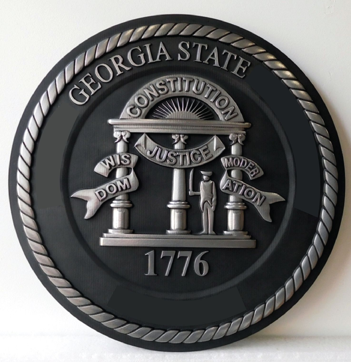GP-1075 - Carved Plaque of the  Seal of  a State Court of the State of Georgia