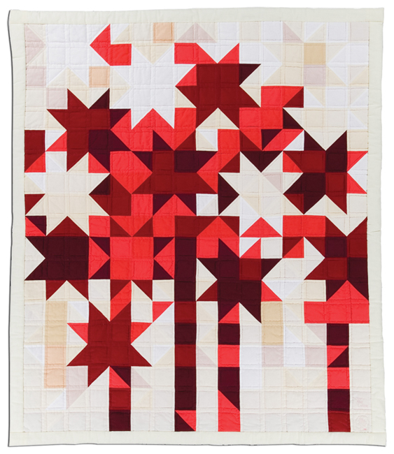 'Starfire,' 1981, machine pieced, 50 x 59 in, IQSCM 1997.007.1031, Ardis and Robert James Collection