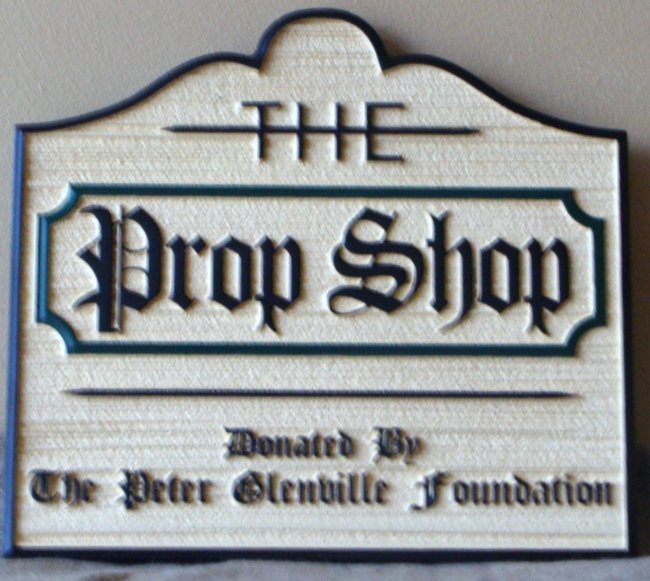 """SA28601 - Carved and Sandblasted Sign for """"The Prop Shop"""""""