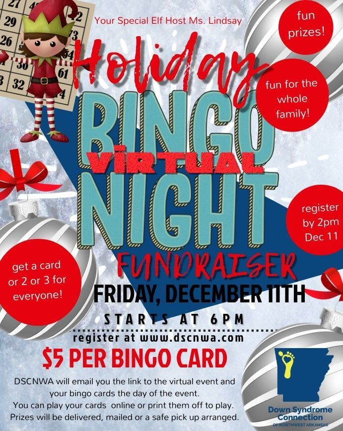 DSCNWA Holiday Bingo Night Fundraiser